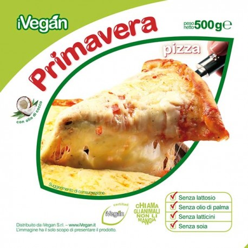 Primavera Pizza 500g Formaggio iVegan