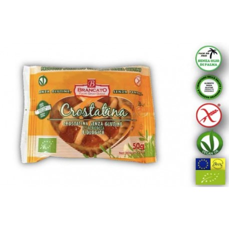 Crostatina Bio all'albicocca senza glutine