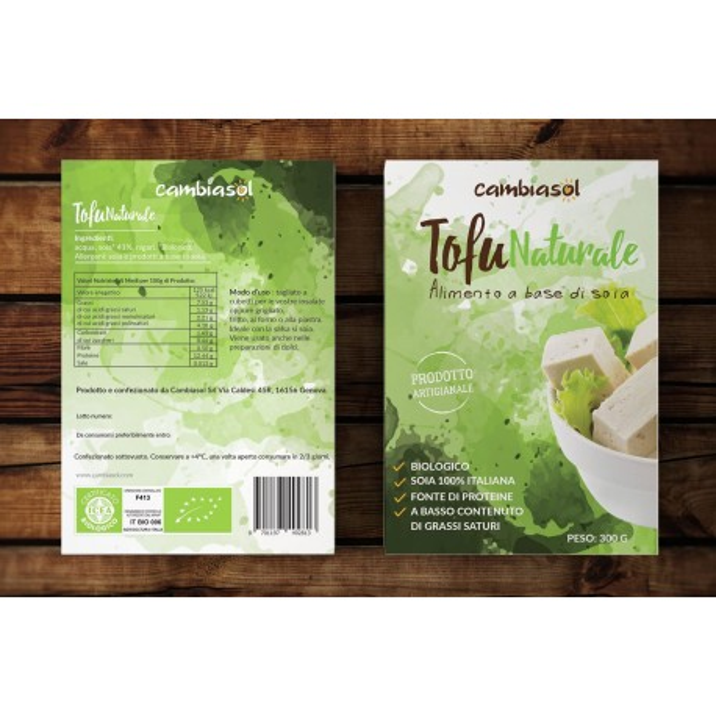 Tofu naturale biologico 300gr. cambiasol