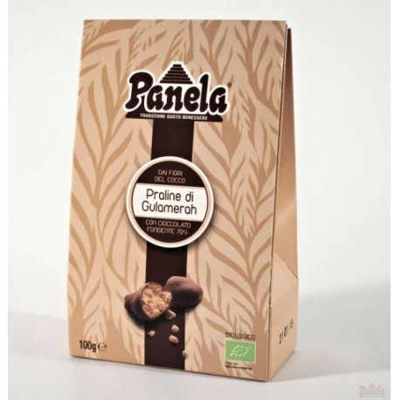 Praline di Gulamerah al cioccolato fondente 70% Bio