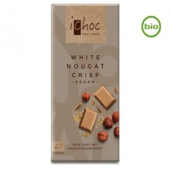 Tavoletta di cioccolato al latte di riso iChoc White Nougat crisp