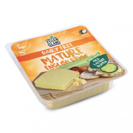 Mature English Style Block Intenso Vegan Island Alternativa al formaggio