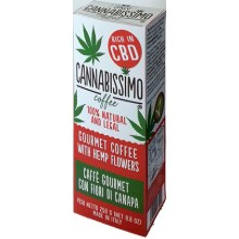 Cannabissimo con fiori di canapa caffè