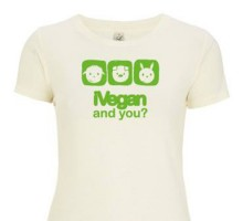 T-shirt Donna [iVegan and you?] - XL bianco