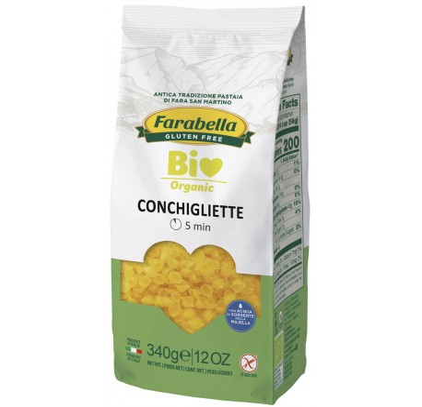 Rigatoni di mais e riso senza glutine bio 340g