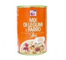Zuppa mix di legumi e farro bio in lattina